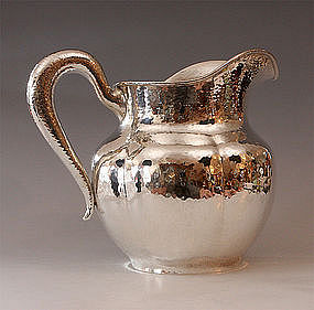 Sparkling Hammered Sterling Pitcher