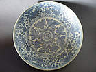A large Ming Dynasty Hongzhi Period blue and white dish