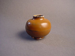 Rare persimmon glazed jarlet !