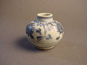 Early Ming Yongle blue and white jar !