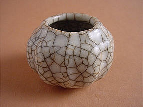 Very rare Ge ware Geyao small waterpot.