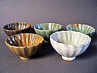 A collection of 5 very rare Song Dynasty fluted Cups