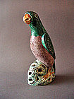 "A""Famille-Verte""model of a Parrot Kangxi Period"