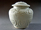 Extremely nice Yuan Dynasty Qingbai Jar with Lid