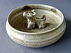 Rare Jin Dyn. Bowl with central Figure of a Dog