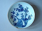 Kangxi blue and white dish !