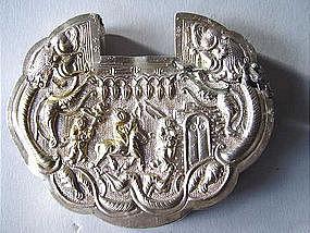Museum qual. silver amulet lock pendant !