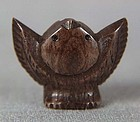 19c OJIME netsuke slide TONGUE CUT SPARROW