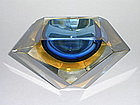Eames Era Faceted  Sommerso Geode