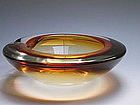 Modernist Bowl in Incalmo technique by Archimede Seguso