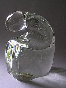 Glass Sculpture of a figure in repose by Livio Seguso