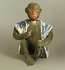 Japanese Banko Ware Nodding Head Monkey C1900