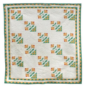 Antique Basket Of Flowers Quilt