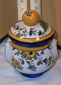 Early Quimper Pot de Creme Jar French Art Pottery
