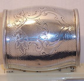 Rare American Coin Silver Sterling Napkin Ring c. 1850