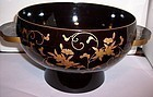 Japanese Black Gold Lacquer Bowl c1920