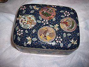 Fine Meiji Japanese Cloisonne Enamel Box c.1890