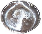 "Vintage Japanese Sterling Hand Crafted  6 3/4"" Plate"