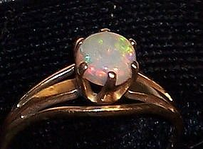 Vintage Fine Opal 14k Gold Lady's Ring Church Co.Maker