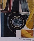 Modernist Collage New York Artist Fred Ladwig Cars