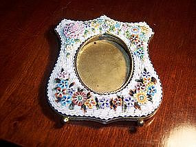 Micromosaic Picture Frame Italian 19th Century Flowers