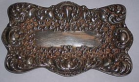 Fine Antique Sterling Silver Dresser Tray Unger Bros.