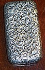 Victorian Antique Sterling Silver Match Safe Vesta Case