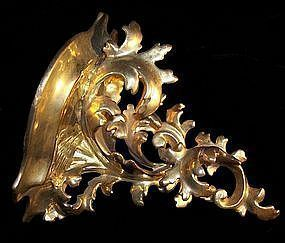 Antique Gilt Gesso Italian Wood Wall Sconce Shelf