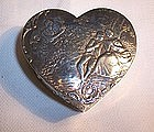 Continental 800 Silver Heart Trinket Box Couple Scenes