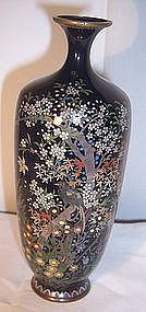 "Antique Meiji Japanese Golden Age Signed Cloisonne 6"" Vase"