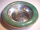 Antique Chinese Jade Sterling Bowl Sgnd.Yamanaka Japan