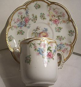 Antique Haviland China Cup & Saucer Schleiger # 72 (item #789355)