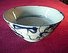 Antique CHINESE BLUE & WHITE BOWL {ca. 1800