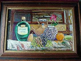 TOM BENSON OIL { Martini & Rossi STILL LIFE