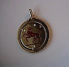 18K GOLD TAURUS THE BULL CHARM ENAMELED FINISH