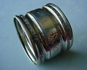 ANTIQUE VICTORIAN STERLING NAPKIN RING