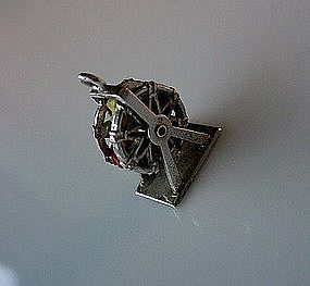 MOVABLE STERLING FERRIS WHEEL CHARM