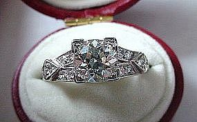 BEAUTIFUL PLATINUM DIAMOND ENGAGEMENT RING 1.15 CT DIAM