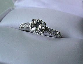 PLATINUM DIAMOND ENGAGEMENT RING 3/5 CARAT VS1 GH