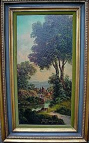 LISTED ARTIST TONI BORDIGNON LANDSCAPE OIL ON CANVAS