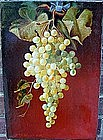 STILL LIFE OIL..GRAPES Signed WM H.WEAVER Listed Artist