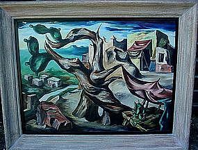 JOSE GARCIA NAREZO ABSTRACT OIL ON CANVAS 1947