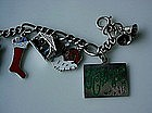 STERLING MERRY CHRISTMAS CHARM BRACELET MULTI CHARMS