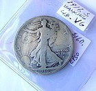 US SILVER COIN ...1916S HALF DOLLAR ...KEY DATE COIN