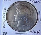 US COIN ...1921 SILVER DOLLAR PEACE DOLL EX F CONDITION