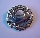 STERLING GEORG JENSEN BIRD BROOCH #165