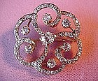 ANTQ ENDLESS KNOT DIAMOND BROOCH{4.75 Carats