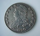 ANTIQUE COIN... 1830 CAPPED BUST US HALF DOLLAR AU UNC