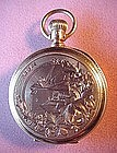 LADIES PENDANT~POCKET WATCH{14K HUNTER