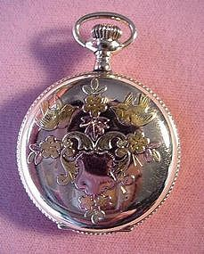 Multi~Color Case {Ladies GF ELGIN POCKETWATCH